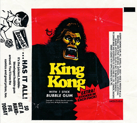 1976 Topps King Kong Trading Cards 5