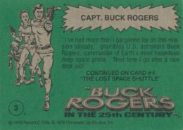 1979 Topps Buck Rogers Trading Cards 2