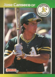 1989 Donruss Blister Bottom Jose Canseco