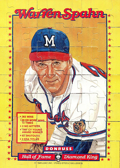 1989 Donruss Warren Spahn Puzzle