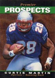 1995 SP Football Base Curtis Martin RC