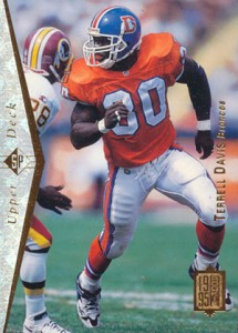 1995 SP Football Base Terrell Davis
