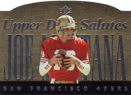 1995 SP Football Joe Montana Salute