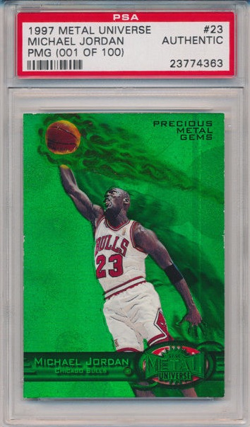 1997-98 Michael Jordan PMG Emerald Bidding Ends at $91,300 1