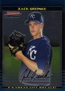 2002 Bowman Chrome Draft Zack Greinke RC