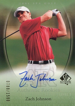Top 5 Zach Johnson Golf Cards 1