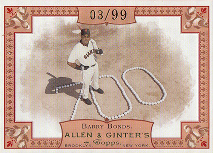 2006 Topps Allen & Ginter Baseball Rip Card