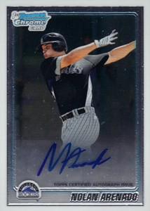 2010 Bowman Chrome Autographs Nolan Arenado