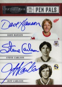 Foil Up with Hanson Brothers Hockey Cards 2