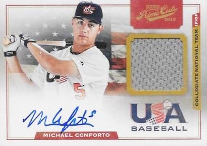 2012 Panini Prime Cuts USA Baseball Jersey Autograph Michael Conforto