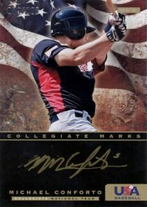 2012 Panini USA Baseball Collegiate Marks Michael Conforto