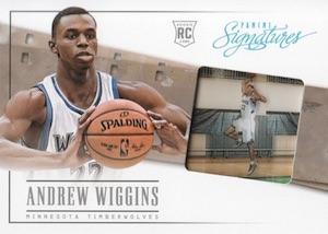 2013-14 Panini Signatures Draft X-Change Andrew Wiggins #1