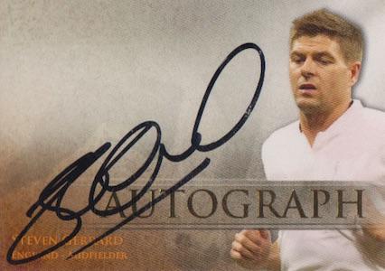 2013 Futera Unique Signatures Steven Gerrard