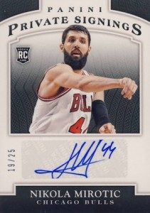 2014-15 Panini Finals Private Signings Nikola Mirotic #NM Autograph