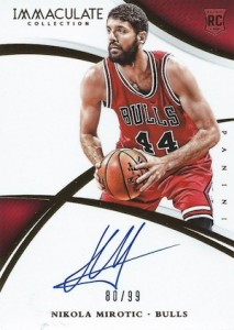 2014-15 Panini Immaculate Collection Nikola Mirotic RC #146 Autograph