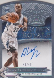 2014-15 Panini Preferred Andrew Wiggins RC Crown Royale Autograph