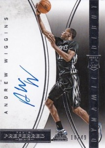 2014-15 Panini Preferred Andrew Wiggins RC Dynamic Debut Autograph