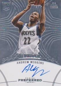 2014-15 Panini Preferred Andrew Wiggins RC Rookie Revolution Autograph