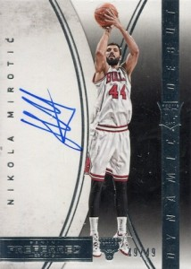 2014-15 Panini Preferred Nikola Mirotic RC Dynamic Debut Autograph