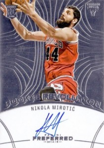 2014-15 Panini Preferred Nikola Mirotic RC Rookie Revolution Autograph