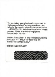 2014-15 Upper Deck Premier Acetate Autograph Patch Rookie Gallery 15