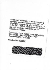 2014-15 Upper Deck Premier Acetate Autograph Patch Rookie Gallery 27