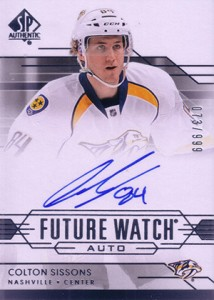 2014-15 SP Authentic Hockey Future Watch Autographs Gallery, Guide 6