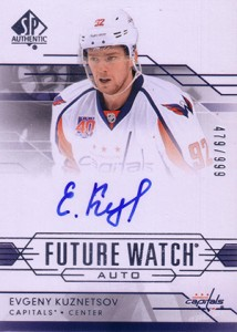 2014-15 SP Authentic Hockey Future Watch Autographs Gallery, Guide 44
