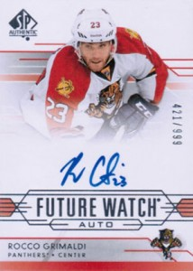 2014-15 SP Authentic Hockey Future Watch Autographs Gallery, Guide 15