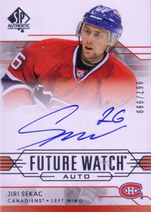 2014-15 SP Authentic Hockey Future Watch Autographs Gallery, Guide 18