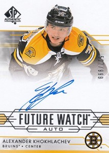 2014-15 SP Authentic Hockey Future Watch Autographs Gallery, Guide 52