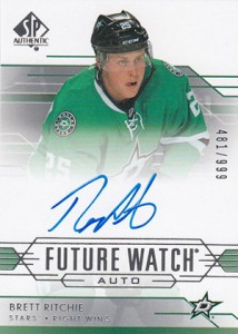 2014-15 SP Authentic Hockey Future Watch Autographs Gallery, Guide 24