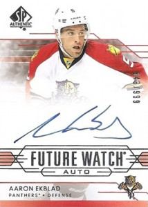 2014-15 SP Authentic Hockey Future Watch Autographs Gallery, Guide 25