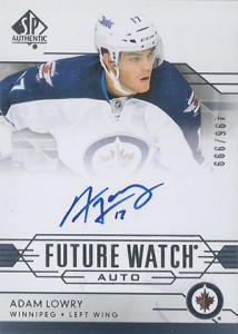 2014-15 SP Authentic Hockey Future Watch Autographs Gallery, Guide 26