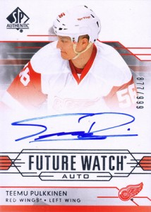 2014-15 SP Authentic Hockey Future Watch Autographs Gallery, Guide 58