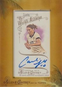 2014 Topps Allen & GInter Autograph Carli Lloyd