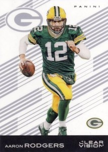 2015 Clear Vision Football Base Aaron Rodgers