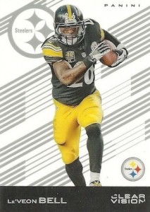 2015 Clear Vision Football Base LeVeon Bell