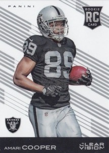 2015 Clear Vision Football Base RC Amari Cooper