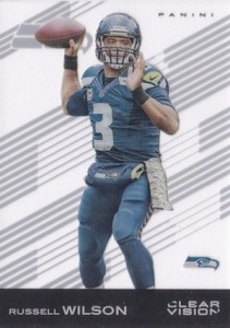 2015 Clear Vision Football Base Russell Wilson