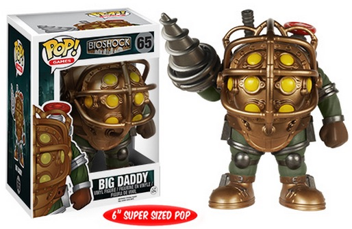 2015 Funko Pop BioShock Vinyl Figures 65 Big Daddy 6 Super Sized Pop