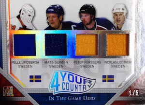 2015 Leaf In The Game Used Hockey 4 Your Country