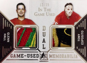 2015 Leaf In The Game Used Hockey Dual Memorabilia