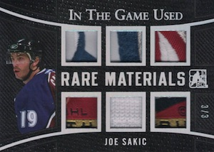 2015 Leaf In The Game Used Hockey Rare Materials