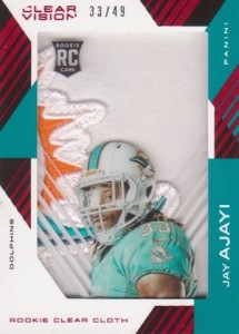 2015 Panini Clear Vision Football Rookie Clear Cloth Patch