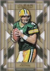 2015 Panini Clear Vision Football Stained Glass Favre