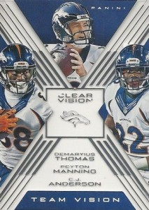 2015 Panini Clear Vision Football Team Denver Broncos