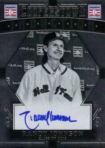 2015 Panini Cooperstown Baseball HOF Induction Signatures Randy Johnson
