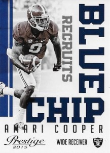 2015 Panini Prestige Football Blue Chip Recruits Amari Cooper