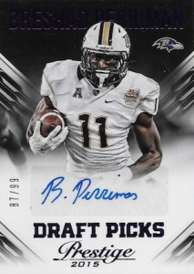 2015 Panini Prestige Football Draft Picks Autographs